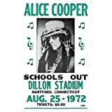 Alice Cooper (Schools Out, Dillon Stadium Concert) Music Poster Print Mini Poster Mini Poster Print, 14x22