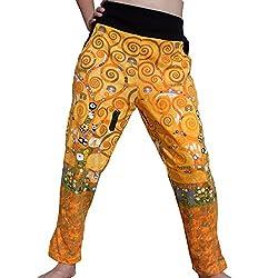 RaanPahMuang Brand 3/4 Length Spandex Pants Gustav Klimt Tree Of Life, Medium
