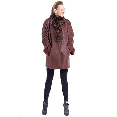 1176e001905 Womens Sheepskin Shearling Leather Jacket Classic Fur Collar Coat Female  Slim Winter Fur Coat Fashion and