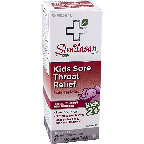 Tab Sore 60 Throat (Similasan Kids Sore Throat Relief Tablets, 60 ct)
