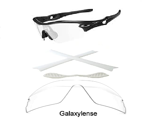 b06cdc06232 Amazon.com  Galaxy Replacement Lenses + Nose Pad + Earsocks For Oakley  Radar Path Clear Color  Clothing
