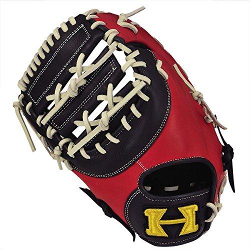 HI-GOLD(ハイゴールド) ソフトボール用グラブ ベーシックシリーズ 一塁手用 RH 左投げ BSG-82F ネイビー×レッド B07649YXWD
