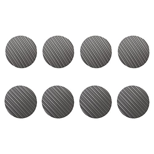 Stay! Furniture Pads, Round Furniture Grippers, Gripper Pads, Furniture Pads for Hardwood Floors and Carpet, Anti-Slip | Round, Gray, Set of 8 (4'') by Stay Furniture Grippers (Image #1)