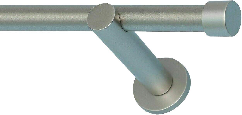 Sento 19mm Kit de Tringle /à Rideau Metal Modern Gris Mat DOLA 120 cm
