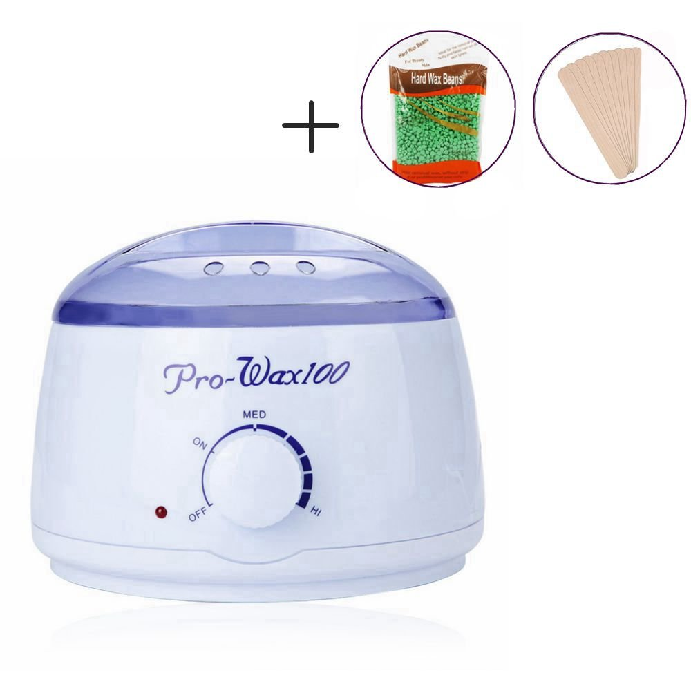 AL'IVER Hair Removal Waxing Kit Electric Wax Heater with No Strip Body Underarm Wax Beans(UK standard plug) AL' IVER Beauty
