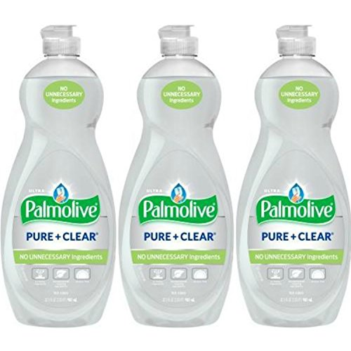PACK OF 3 - Palmolive Ultra Dish Liquid, Pure and Clear, 32.5 Fl Oz