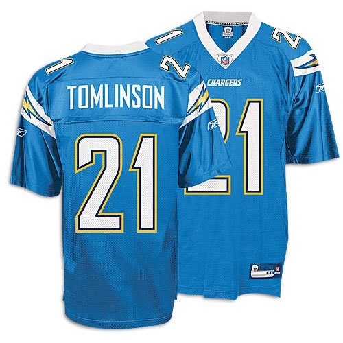 super popular 641f4 5aae9 LaDainian Tomlinson #21 San Diego Chargers NFL 2007 Light Blue Adult  Replica Jersey