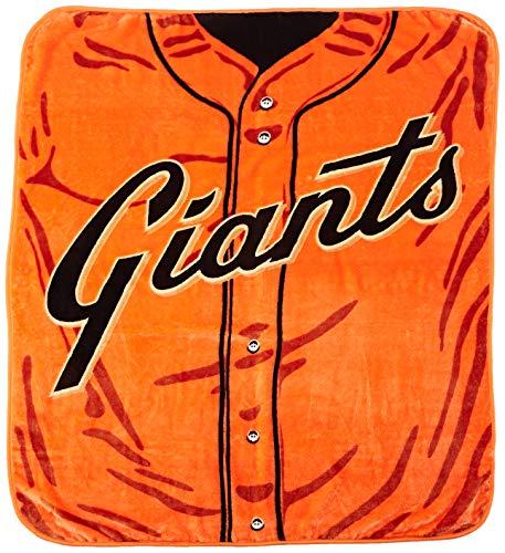 (MLB San Francisco Giants Jersey Plush Raschel Throw, 50