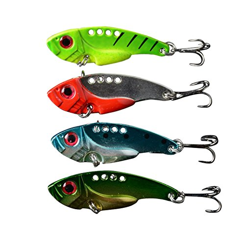 LOBZON 4 PCS/Lot Fishing Hooks with Sharp Hook Fishing Lures Minnow Lures Sets