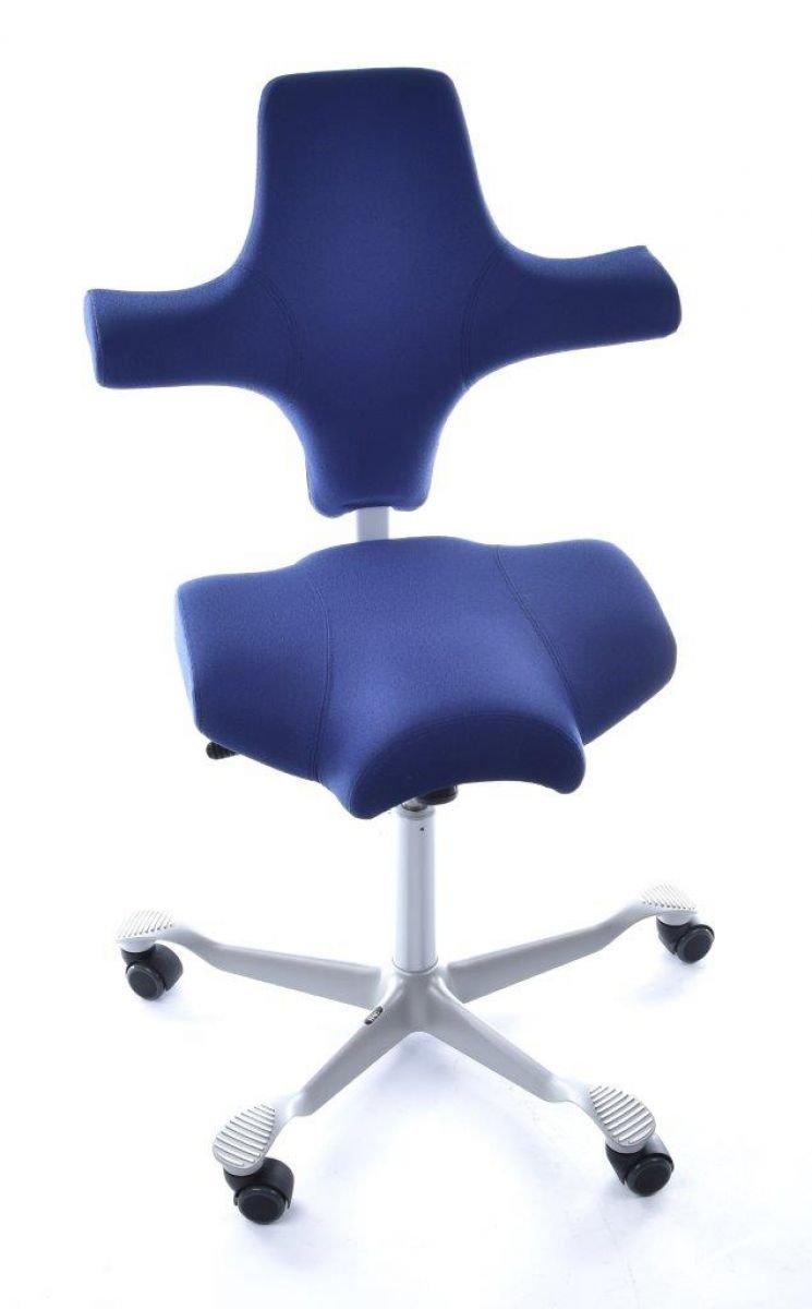 HAG Capisco Modell 8106 Stoff Lila / Blau Xtreme Bürostuhl Sattelsitz