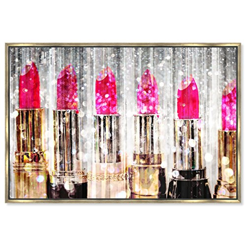 The Oliver Gal Artist Co. Lipstick Collection' Framed Abstract Wall Decor, 24'' x 16'', Pink by The Oliver Gal Artist Co.