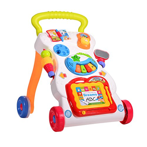 ThinkMax Baby Activity Sit-to-Stand Learning Walker Baby Musical Walker