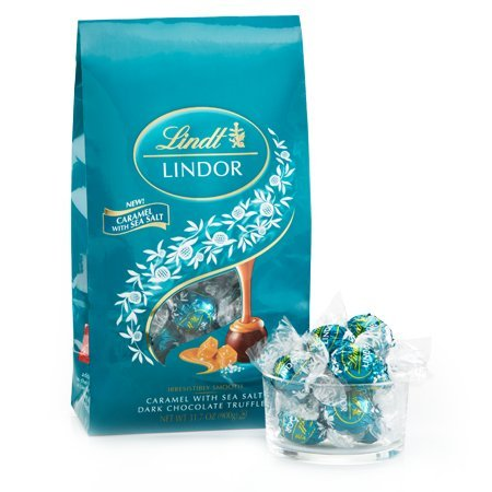 Caramel with Sea Salt Dark Chocolate LINDOR Truffles 75-pc Bag by Lindt
