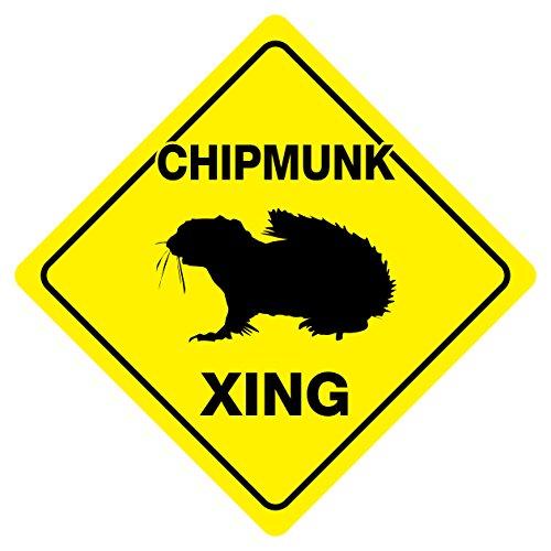 CHIPMUNK CROSSING Funny Novelty Sign