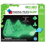 Magna-Tiles 16-Piece Glow in The Dark Set – LED Light Included – The Original, Award-Winning Magnetic Building Tiles – Creativity and Educational – STEM Approved
