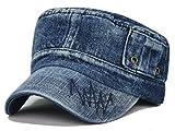 Gumstyle Mens Women Sport Leisure Cowboy Style Hat Army Plain Flat Top Cap Style2 Royalblue