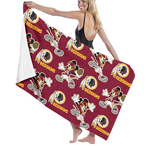 - Jerrymoaus Washington Redskins Cartoon 100% Polyester Fiber Anti-Fading Water-Absorbing Super Bath Towel