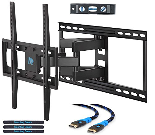Mounting Dream MD2380-24 TV Wall Mount Bracket for most 26-55 Inch Flat Screen TV, with Full Motion Swivel Articulating Dual Arms, up to VESA 400x400mm and 99 LBS Fits Stud Spacing up to 24 Inch