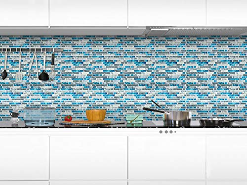 STICKGOO Peel and Stick Backsplash Tiles Blue, Self ...