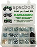 250pc Specbolt Kawasaki Utility ATV Bolt Kit for KLT KSF KLF KEF KVF KSV & KLF models Quad BRUTE FORCE BAYOU LAKOTA SPORT MOJAVE PRARIE ADVANTAGE CLASSIC & V FORCE 220 250 300 360 400 620 650 700