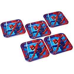American Greetings Spider-Man 2 40-Count Dinner Square Plate Large, Dinner Plates