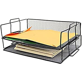 Amazon Com Black Steel Mesh 2 Tier Shelf Paper Holder