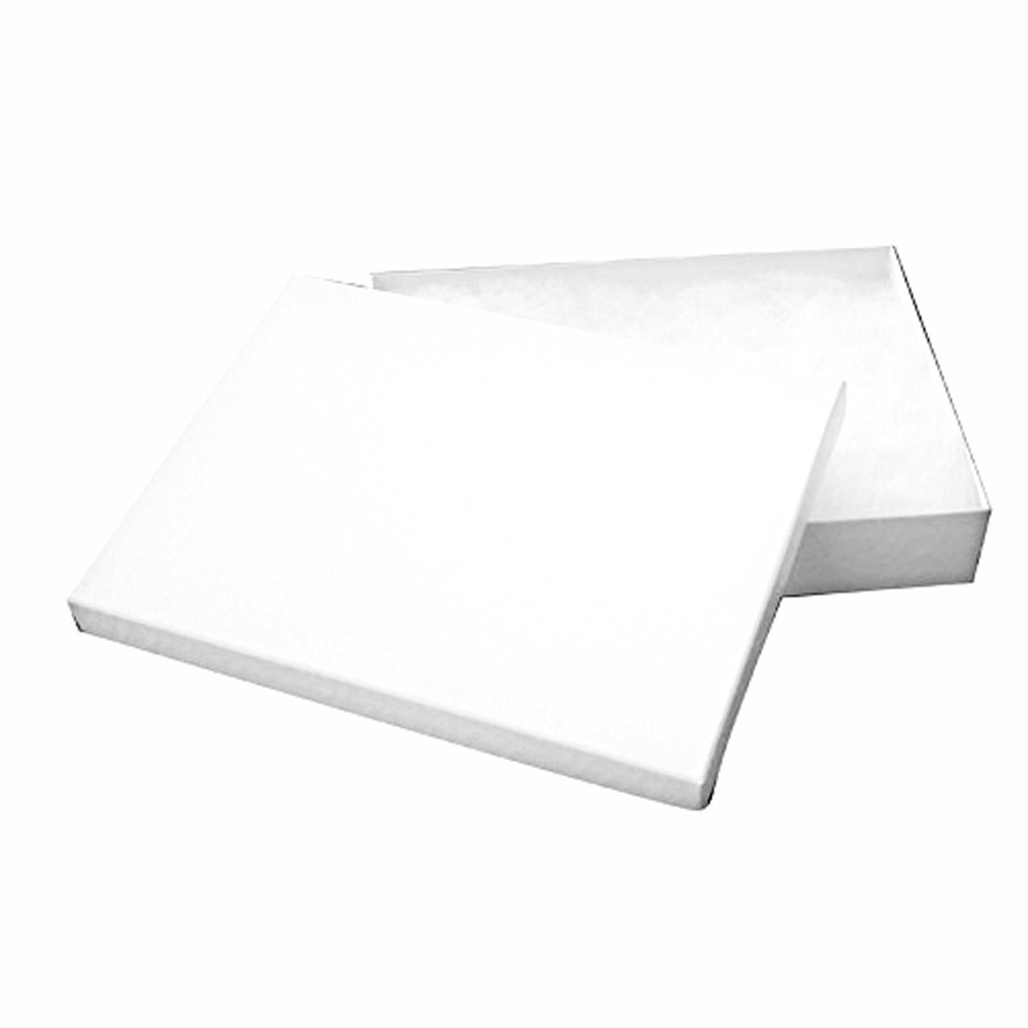 Tioneer Lot of 25 pcs 7 1/8 x 5 1/8 x 1 1/8 White Swirl Cotton Filled Jewelry Boxes