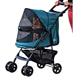 Pet Gear PG8100NZEM Happy Trails No Zip Pet Stroller, Emerald