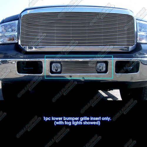 APS F65356A Polished Aluminum Billet Grille Bolt Over for select Ford F-250 Super Duty Models (Grille Billet F250 Bumper)