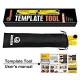 Amenitee Universal Angularizer Ruler - Easy Angle Ruler-Multi Angle Measuring Tool-With Unique Line Level-Embedded ABS Bolts and Nuts-Ultimate Template Tool-Perfect Gifts(Yellow)