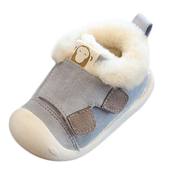 Zapatos Planos Peludo de bebé para niñas pequeños,Yesmile Zapatos de bebé para niños pequeños. Pasa ...