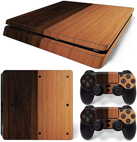 skins4u ® Sony Playstation 4 Slim Skin Madera Design Premium vinilo protector de pantalla Incluye 2 PS4 Controller Pegatinas, Double Wood Cherry: Amazon.es: Deportes y aire libre