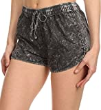 Simplicity Juniors Summer Booty Denim Style Cotton Draw String Shorts Black L