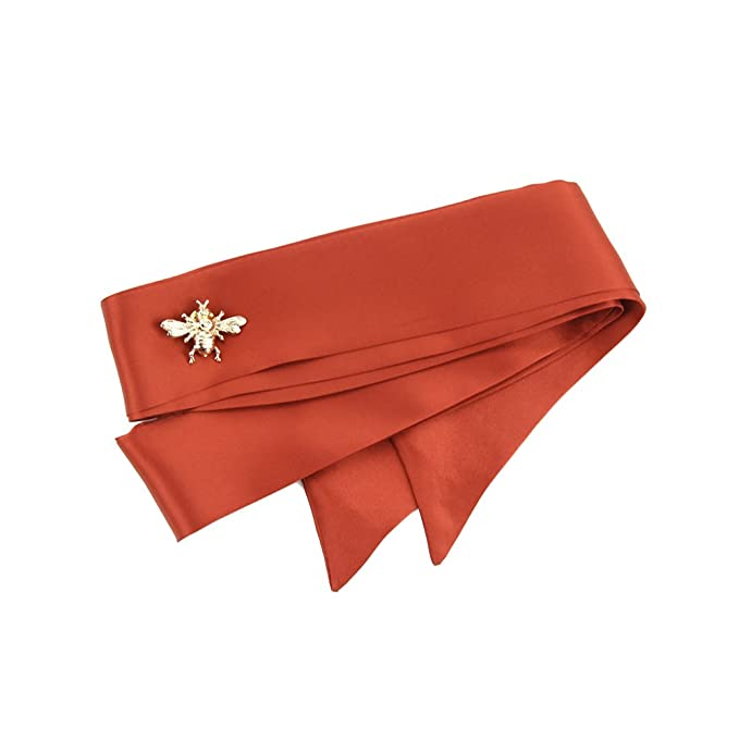 CHICOMP Elegant Silk Skinny Scarf Choker Neck Scarf Tie Handbag ... 1d2cdd893