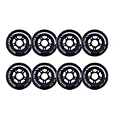 Rollerex VXT500 Inline Skate Wheels (8-Pack) (Steel Black, 80mm)