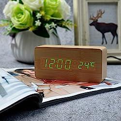 KABB Digital Alarm Clock Digital Alarm Clock wіth Time Temperature аnd Voice Control