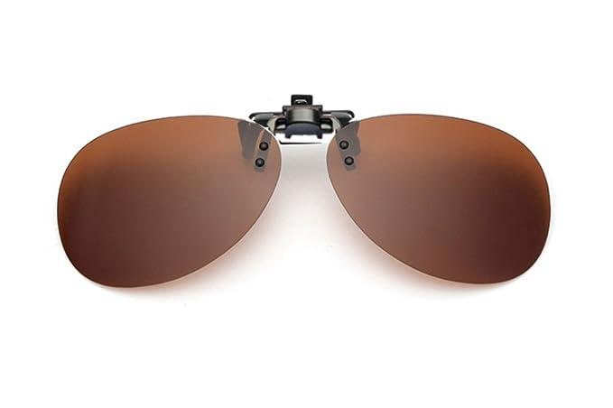 UK1stChoice-Zone Hombre Mujer Unisex Flip-up Polarizado Clip en Las Gafas de Sol
