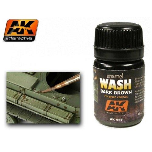 AK00045 AK Interactive - Enamel Wash: Dark Brown for Green vehicles   B00AMB5WDC