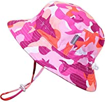Jan & Jul GRO-with-Me Aqua-Dry Sun-Hat for Baby Toddler Girls, 50+ UPF, Adjustable Straps