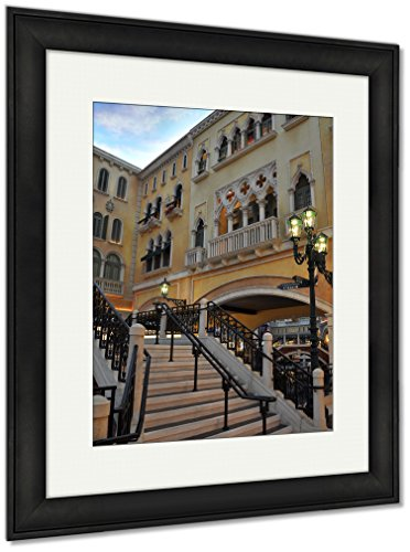 Ashley Framed Prints Venetian Resort Hotel, Wall Art Home Decoration, Color, 30x26 (Frame Size), Black Frame, AG6424543