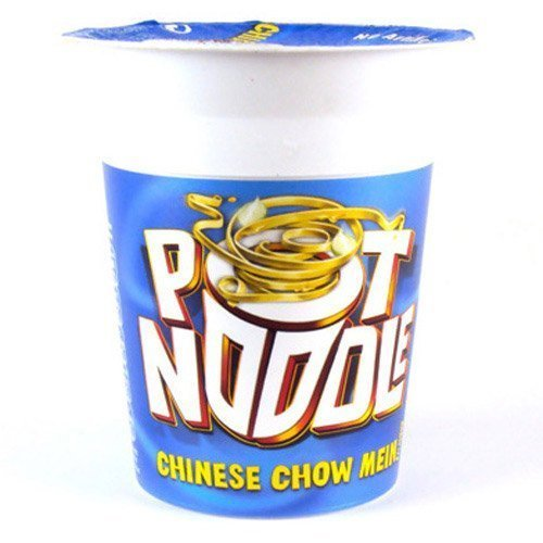 Chinese Chow Mein Pot Noodle 90g (Pack of 12) by N/A [Foods]