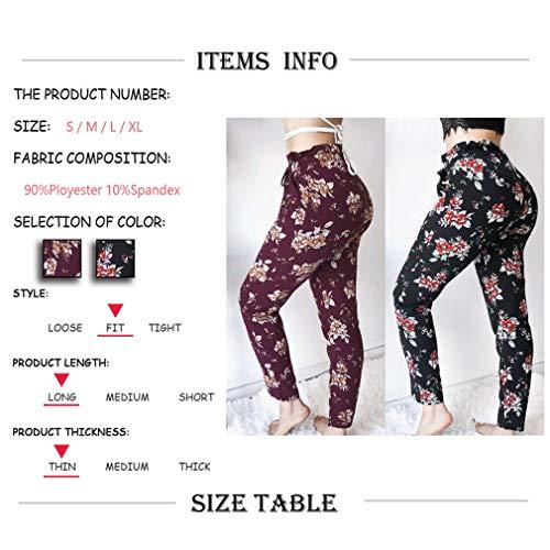 lastique Mode Crayon Pantalon Leggings Femme lgant Motifs Pantalons S Pantalon Violet Slim Floraux Taille XL de Casual qXwrXnEO