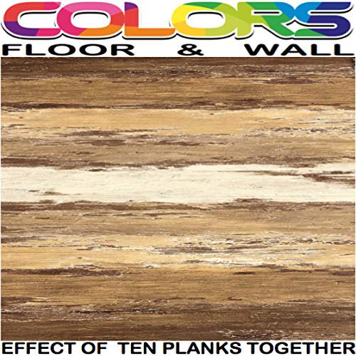 Flooring Handscraped Wood - COLORS Vintage Painted Aged Old Brown Wood Restored Style Dry Back Glue Down Textured Luxury Vinyl Floor and Wall Plank 6 in. x 36 in. (45 sq. ft./case)