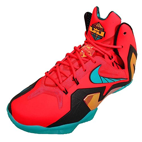 Nike Men's Lebron XI Elite, HERO-LASER CRIMSON/TURBO GREEN-BLACK, 9.5 M US