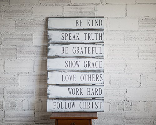 Reclaimed Family Rules Wood Sign | Christian Values sign | Family Values | Family Rules Wood Sign | Pallet Wood Sign