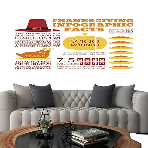 (UHOO Pictures Paintings on Canvas WallFlat Style Infographics. Brick Wall Stickers 20