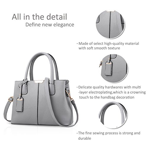 Tote Wallet Women Hombrobolso Bag amp; Handbags Lady Gray Crossbody Nicole Gray Leather Pu Doris UqPx4nX