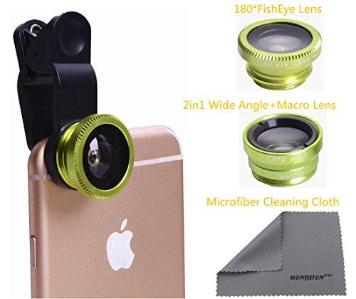 3 in 1 Macro/Fish-eye/Wide Universal Clip Lens (green) - 4