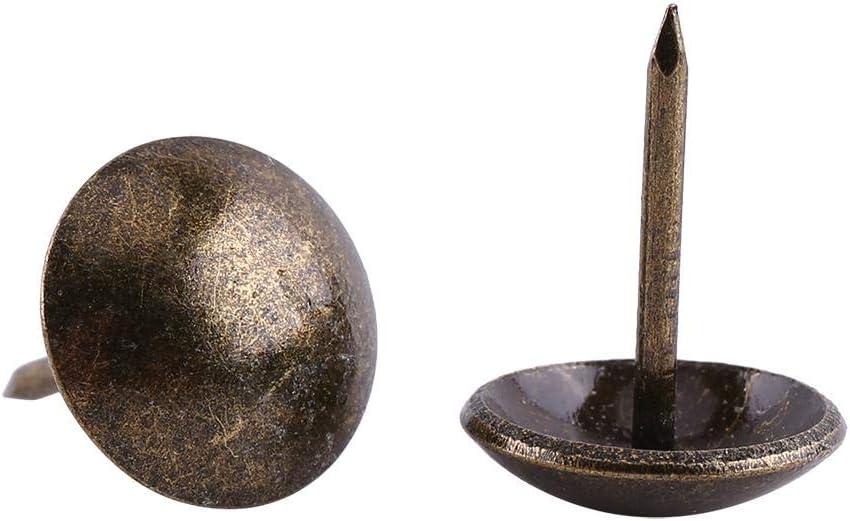23mm 100pc Vintage chiodi da tappezzeria in metallo di bronzo tag decorativi Tack Stud per mobili divano porta scarpa mappa foto di fissaggio