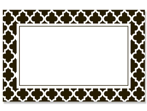 50 pack Geo Graphics Tiles BlackNo Sentiment Enclosure Cards (20 unit, 50 pack per unit.) by Nas